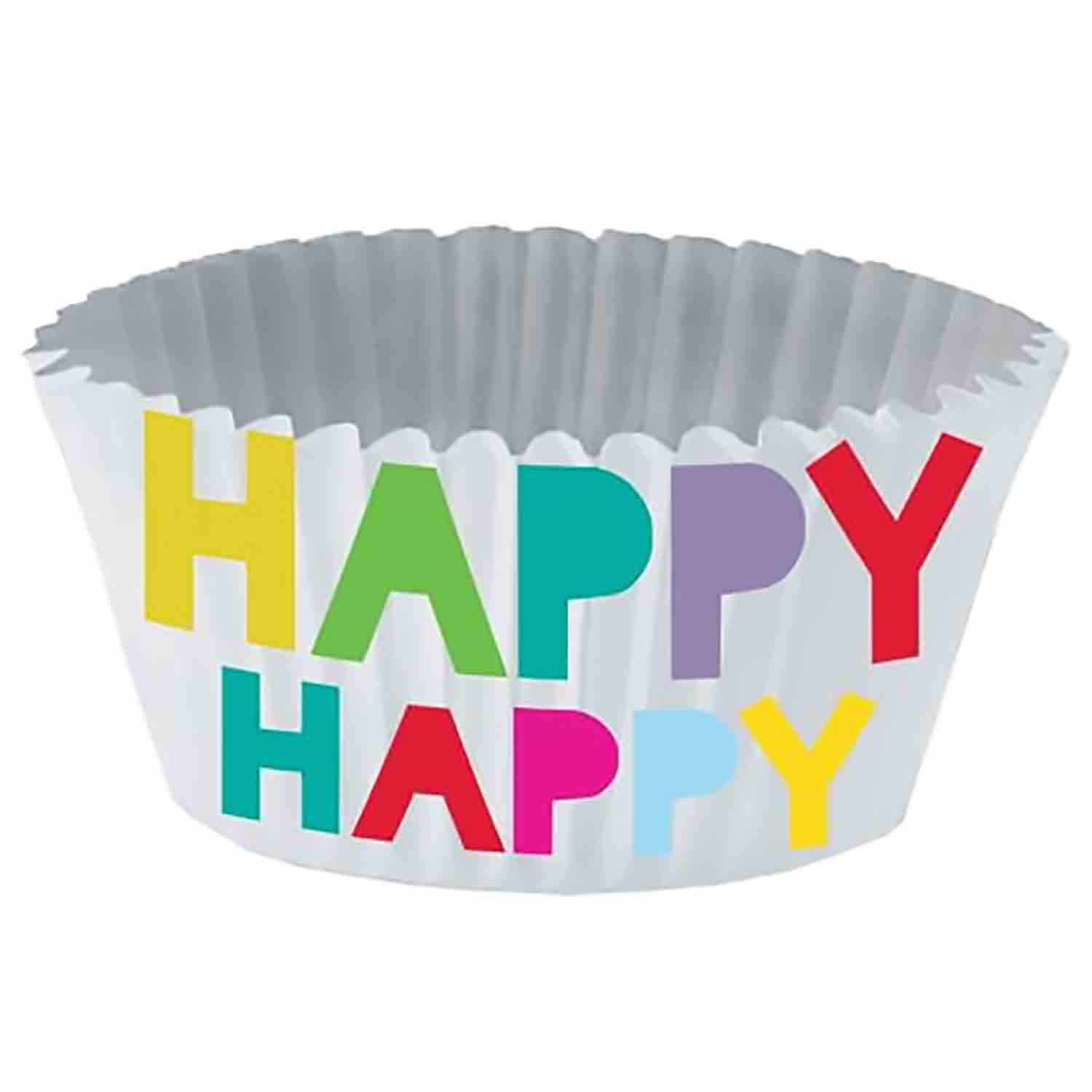 Happy Happy Foil-Lined Standard Baking Cups