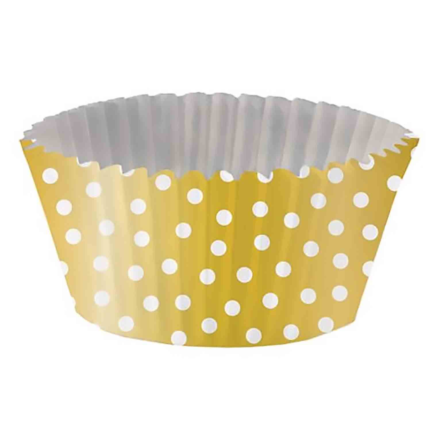 Gold with Dot Foil-Lined Standard Baking Cups