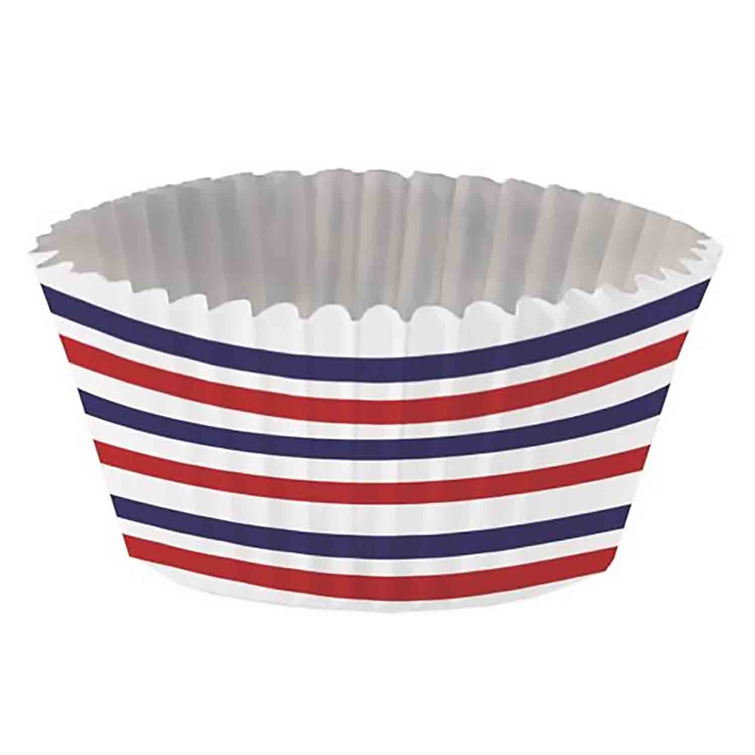 Red White and Blue Foil-Lined Standard Baking Cups