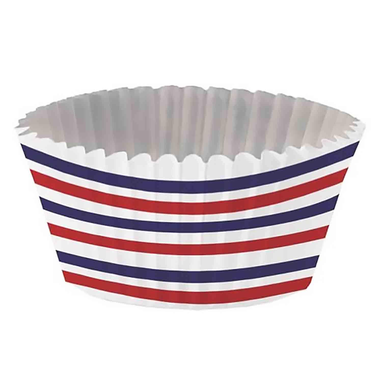 Patriotic Baking Cups and Cupcake Wraps