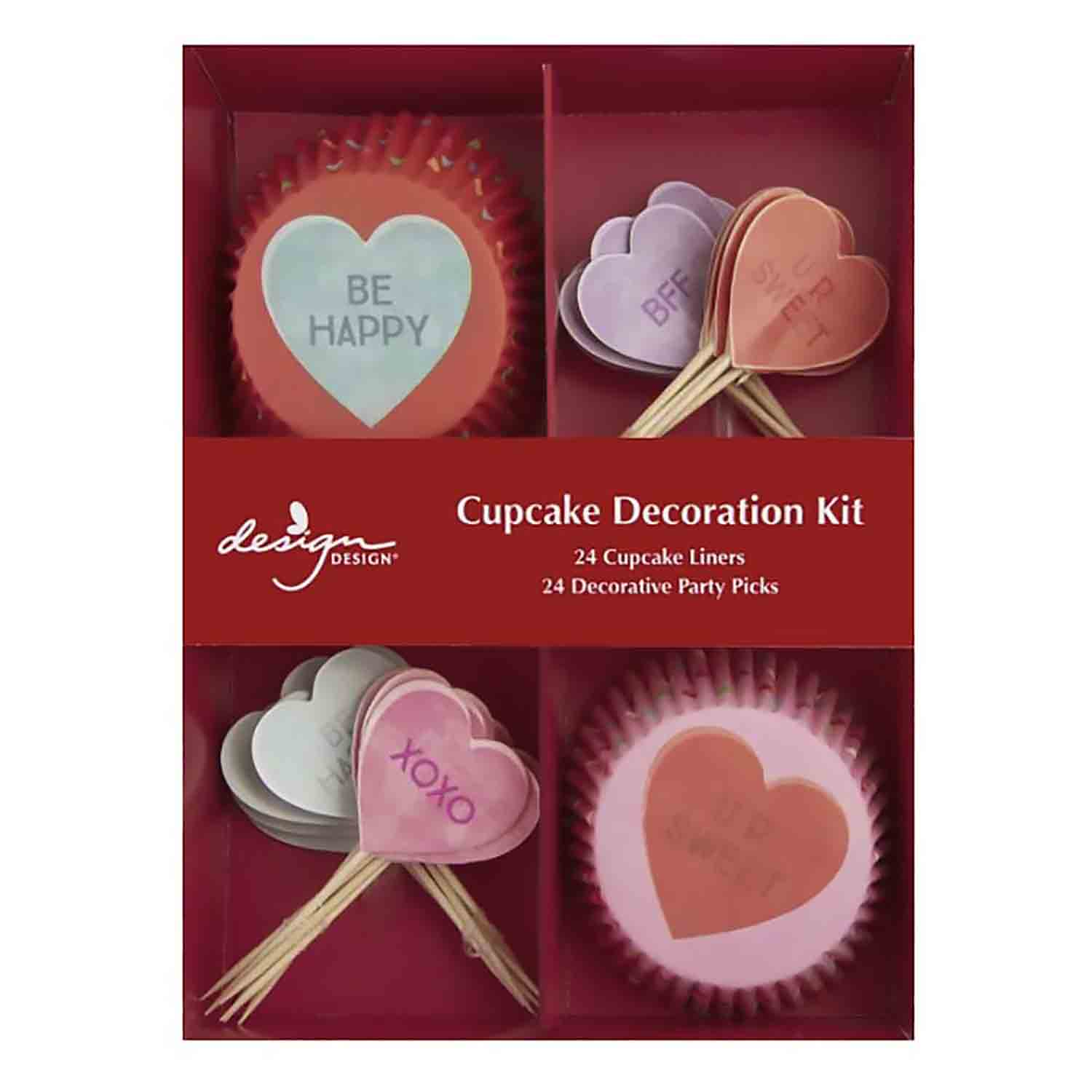 Candy Hearts Cupcake Kit