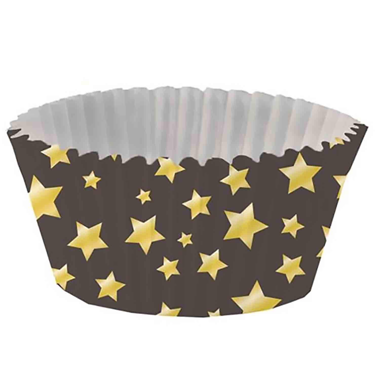 Gold Stars Foil-Lined Standard Baking Cups