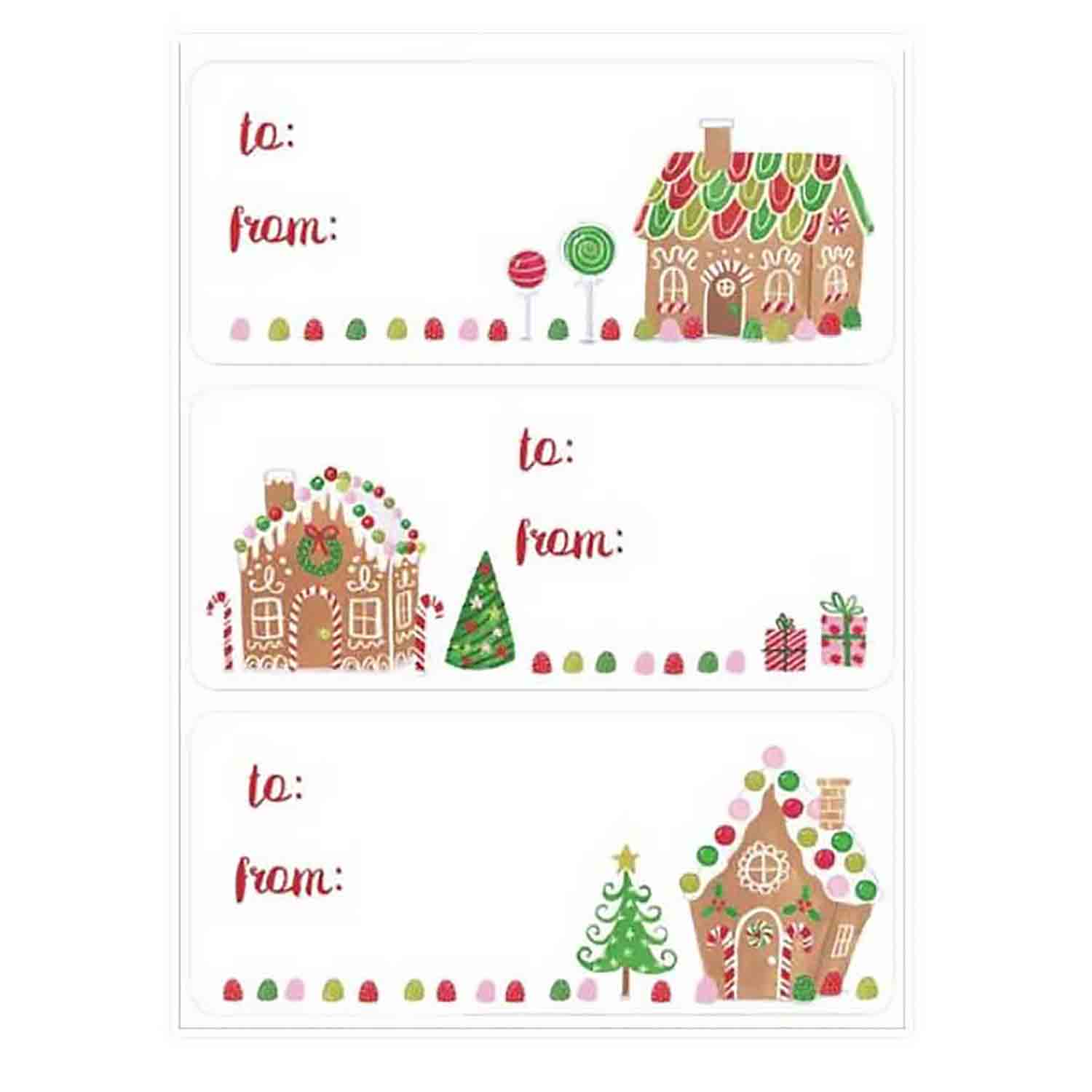Gingerbread Villa Gift Label