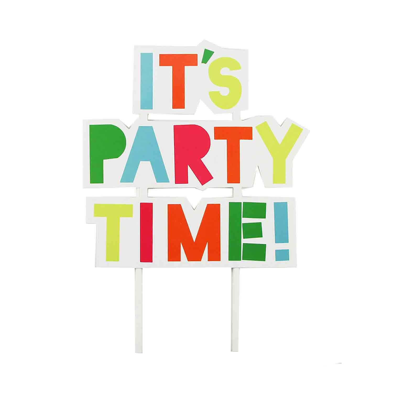 It's Party Time Cake Topper Pick