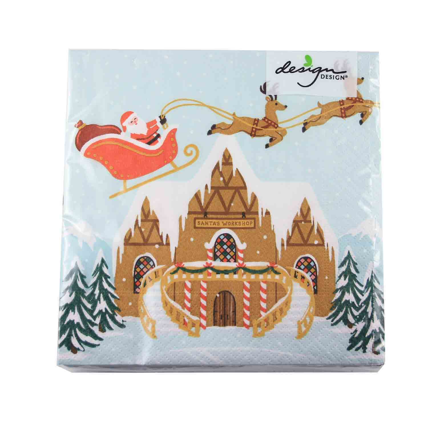 Santa Village Napkins
