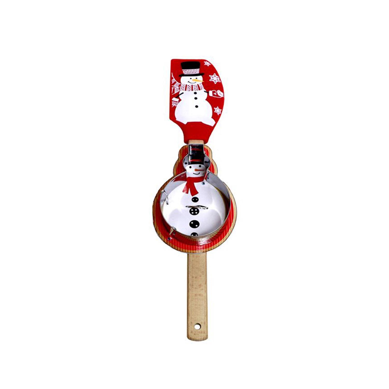 Snowman Spatula & Cutter Set