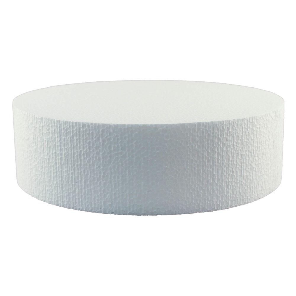 """11"""" x 3"""" Round Styrofoam Cake Dummy"""