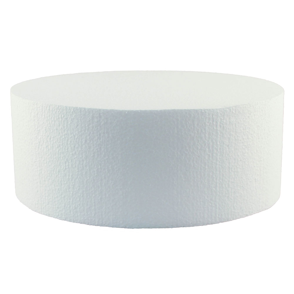 """15"""" x 4"""" Round Styrofoam Cake Dummy"""
