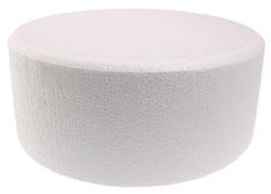 "9 x 4"" Contour Round Styrofoam Cake Dummy"