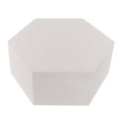 """6"""" x 4"""" Hexagon Styrofoam Cake Dummy"""