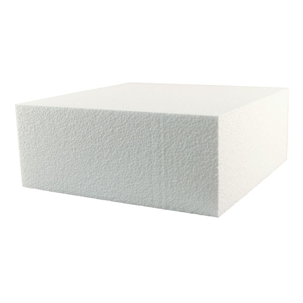 """11"""" x 4"""" Square Styrofoam Cake Dummy"""