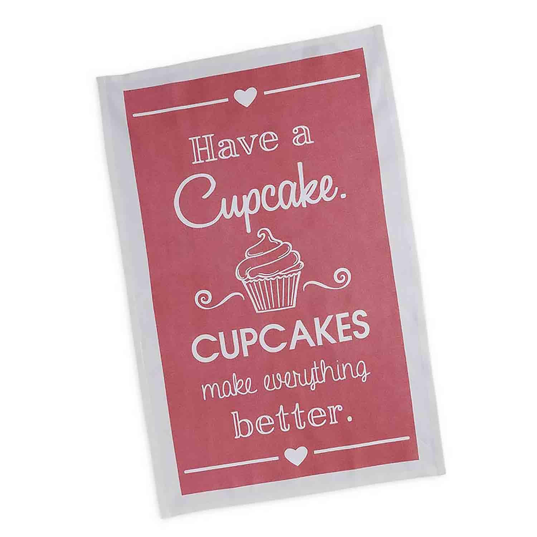 Cupcake Printed Dishtowel