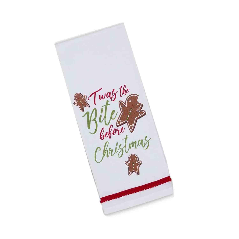 Twas The Bite Before Christmas Dishtowel
