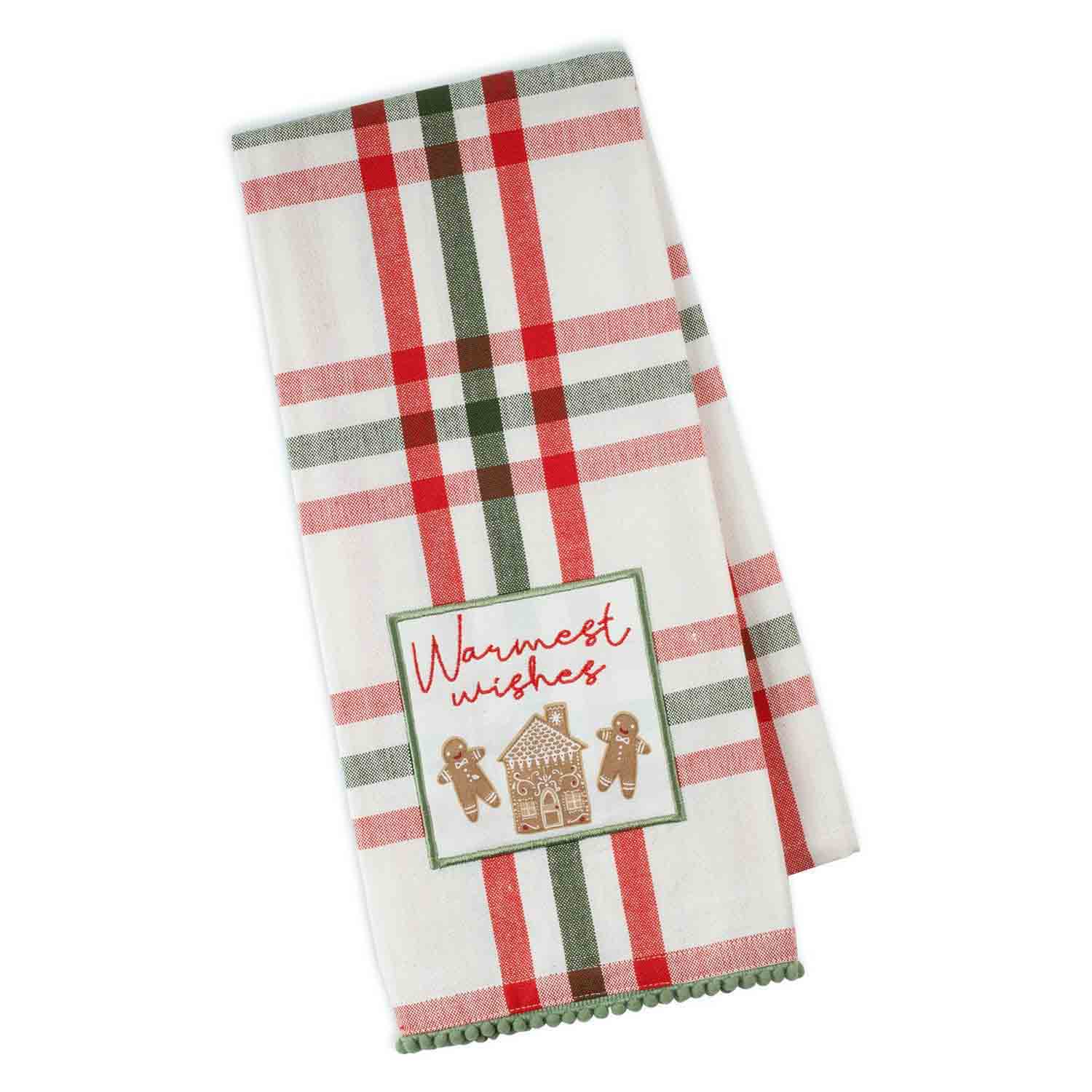 Warmest Wishes Gingerbread Dish Towel