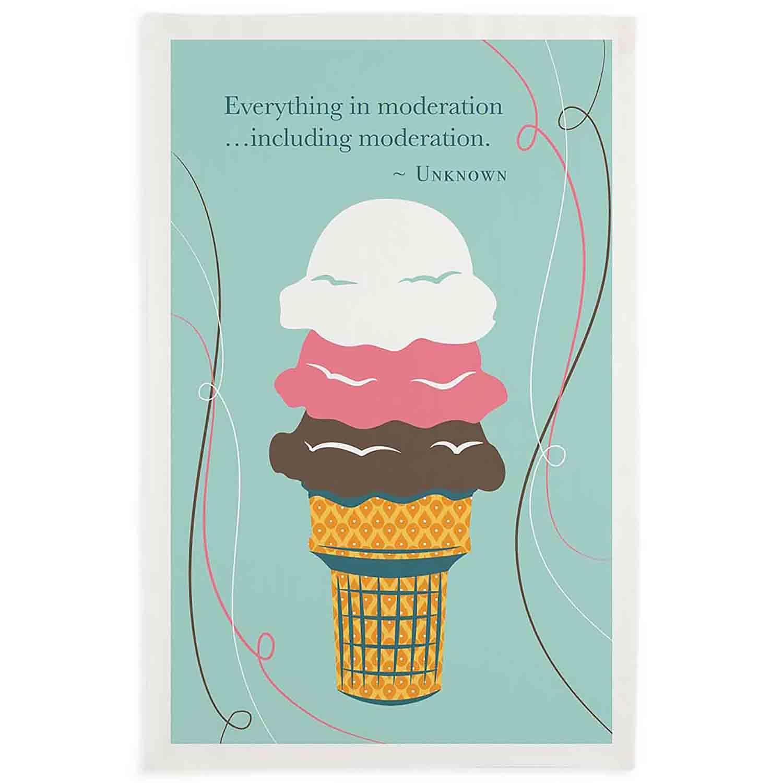 Moderation Ice Cream Printed Dishtowel