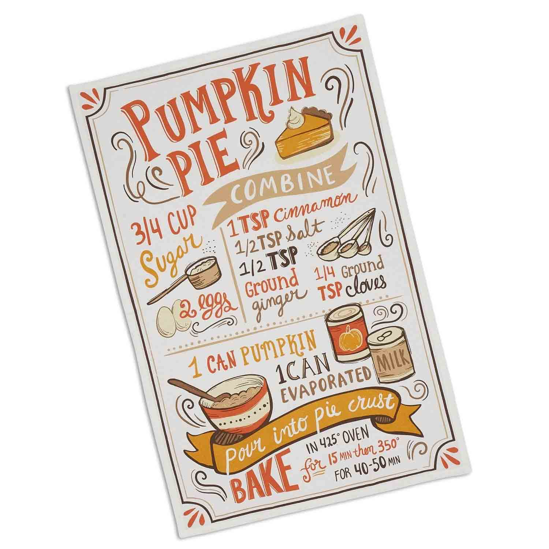 Pumpkin Pie Recipe Dish Towel