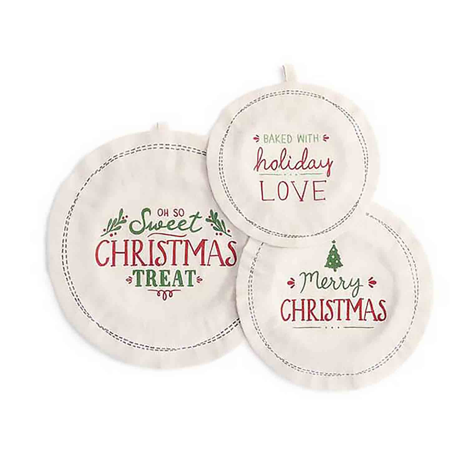 Baked with Holiday Love Dish Covers