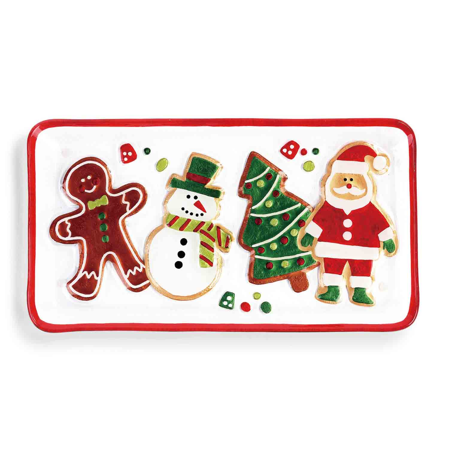 Christmas Cookie Glass Platter