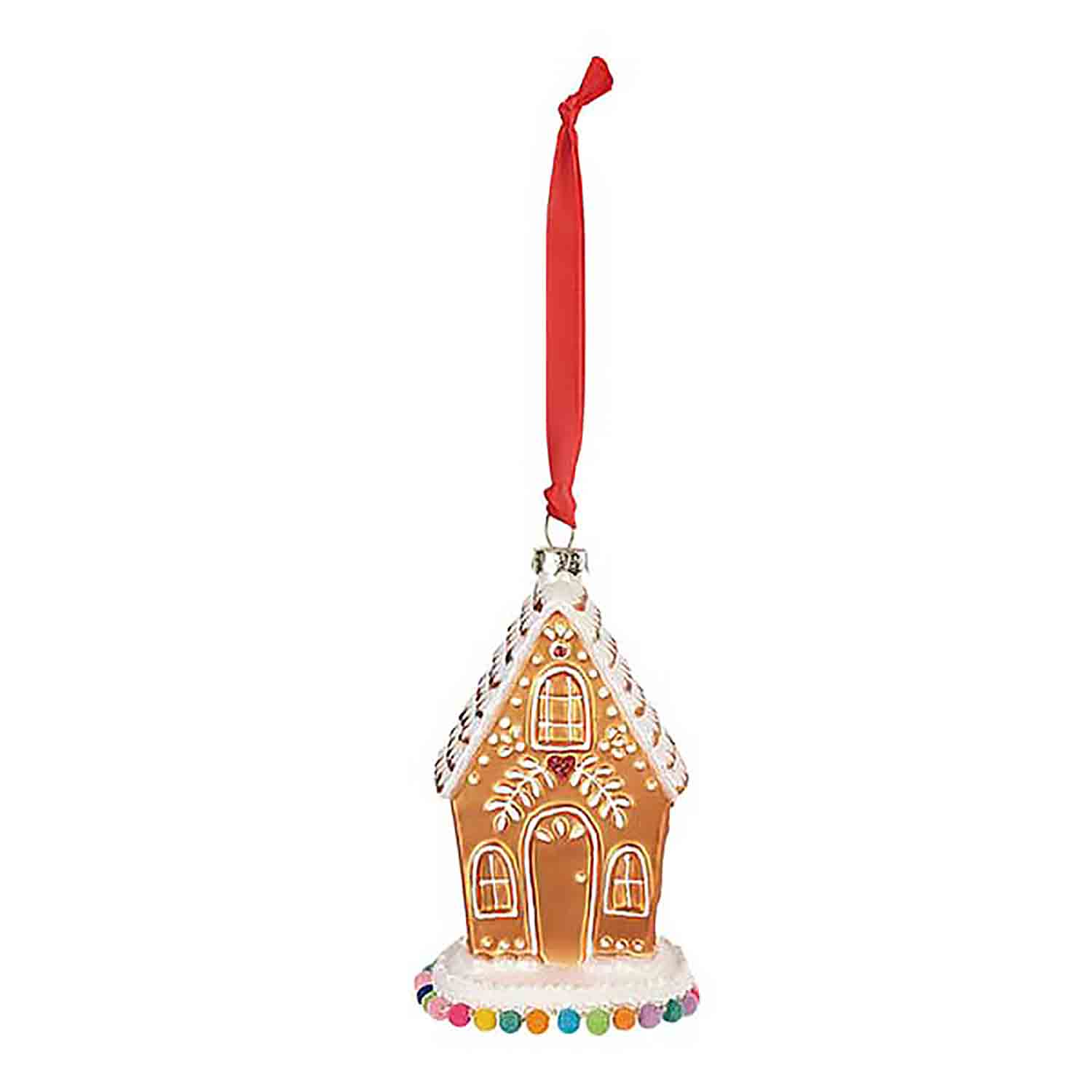 Gingerbread House Blown Glass Ornament