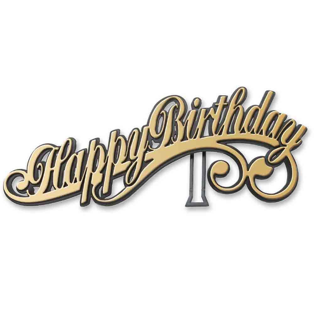 Happy Birthday Easel Layon