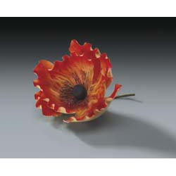 Orange Poppy Gum Paste Flower