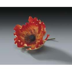 Orange Poppy Gum Paste Flower