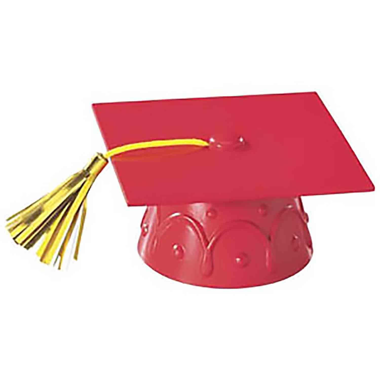 Graduation Cap w/Tassel - Red