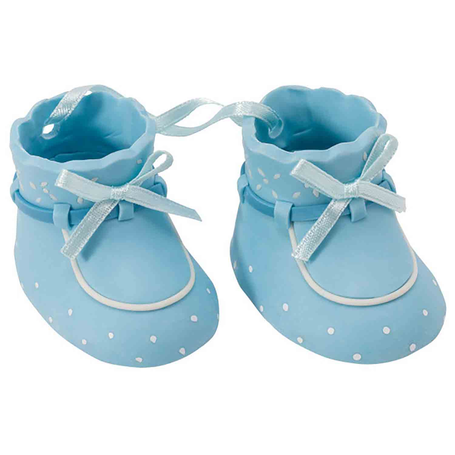 Blue Baby Bootie Set Cake Topper