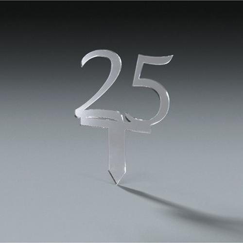 25th Anniversary Cake Topper Pick