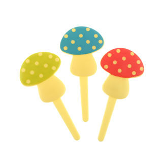 Polka Dot Mushroom Picks