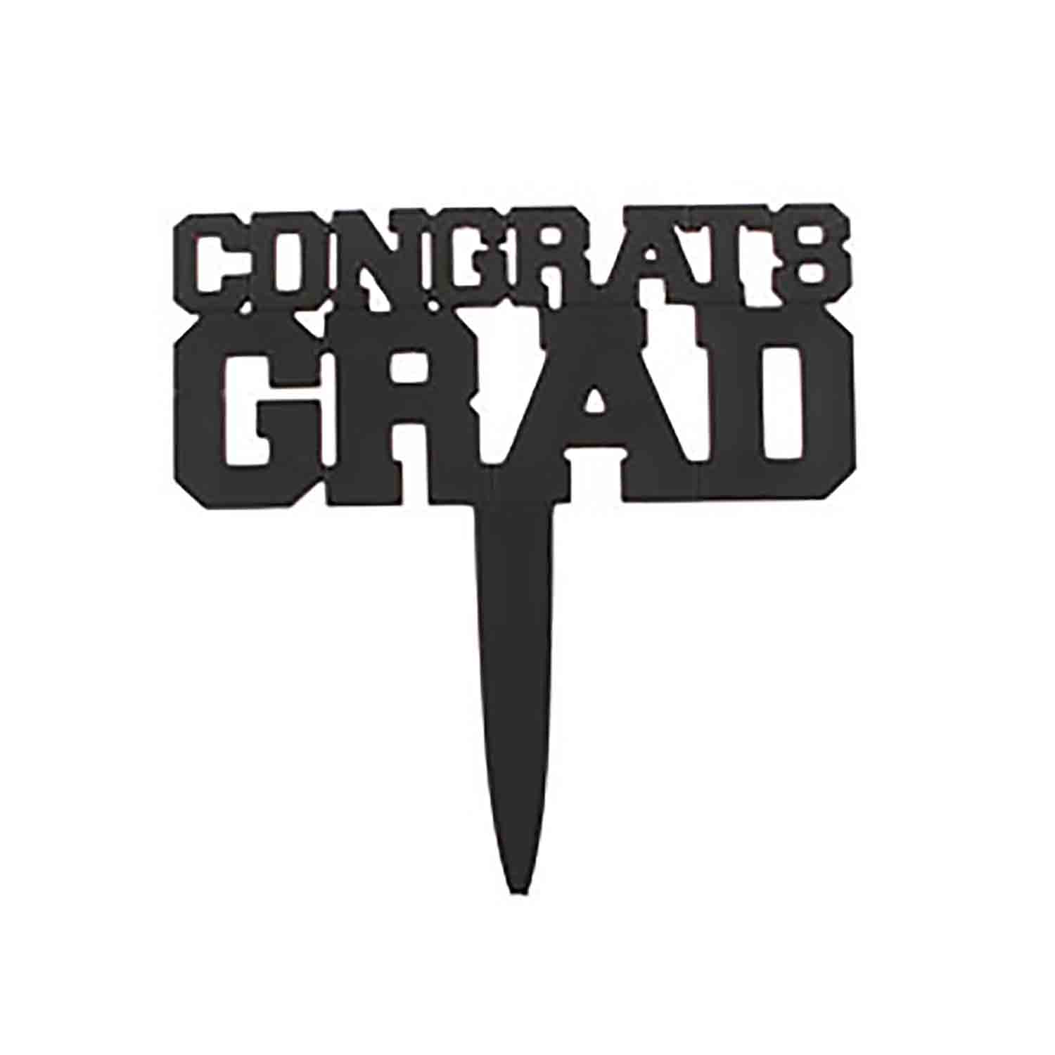 Black Congrats Grad Pick