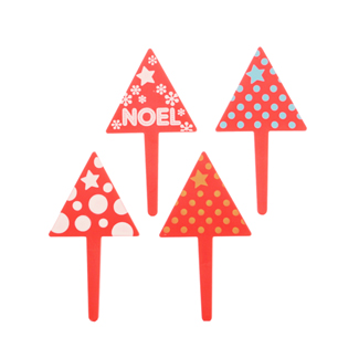Holiday Trees w/ Dots Picks