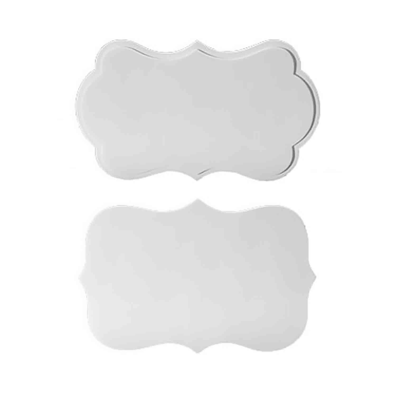 White Gum Paste Plaques