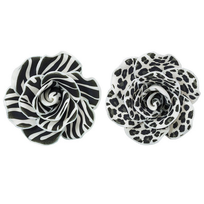 Animal Printed Gum Paste Rose