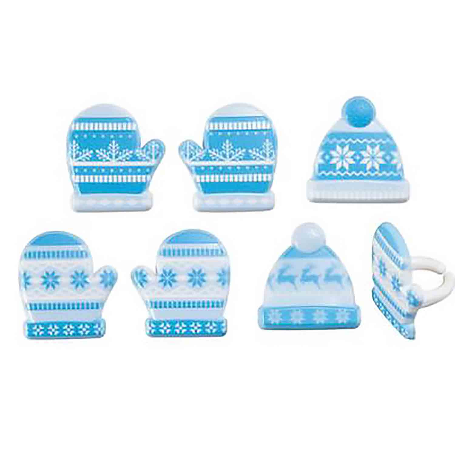 Winter Hat and Mittens Rings