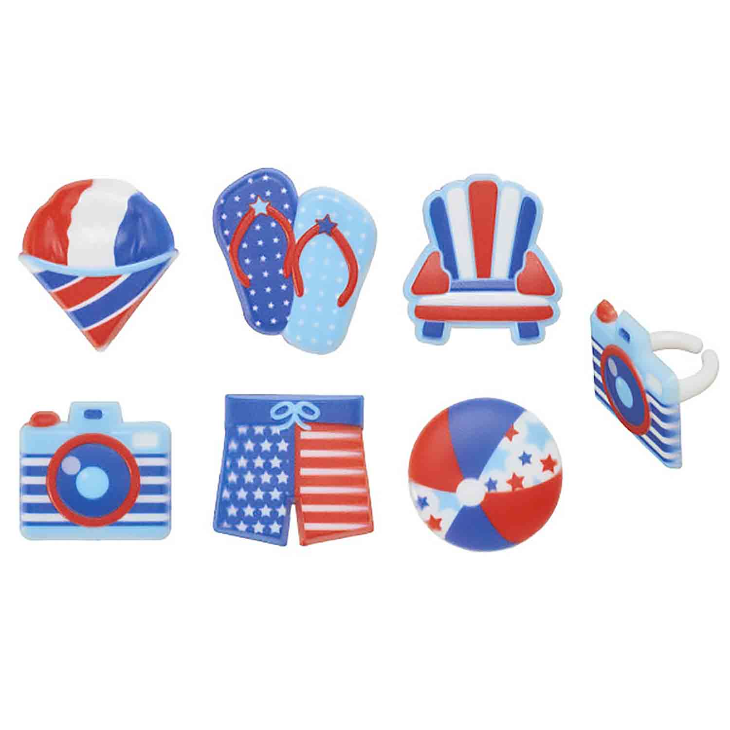 Patriotic Cake and Cupcake Toppers and Decorations