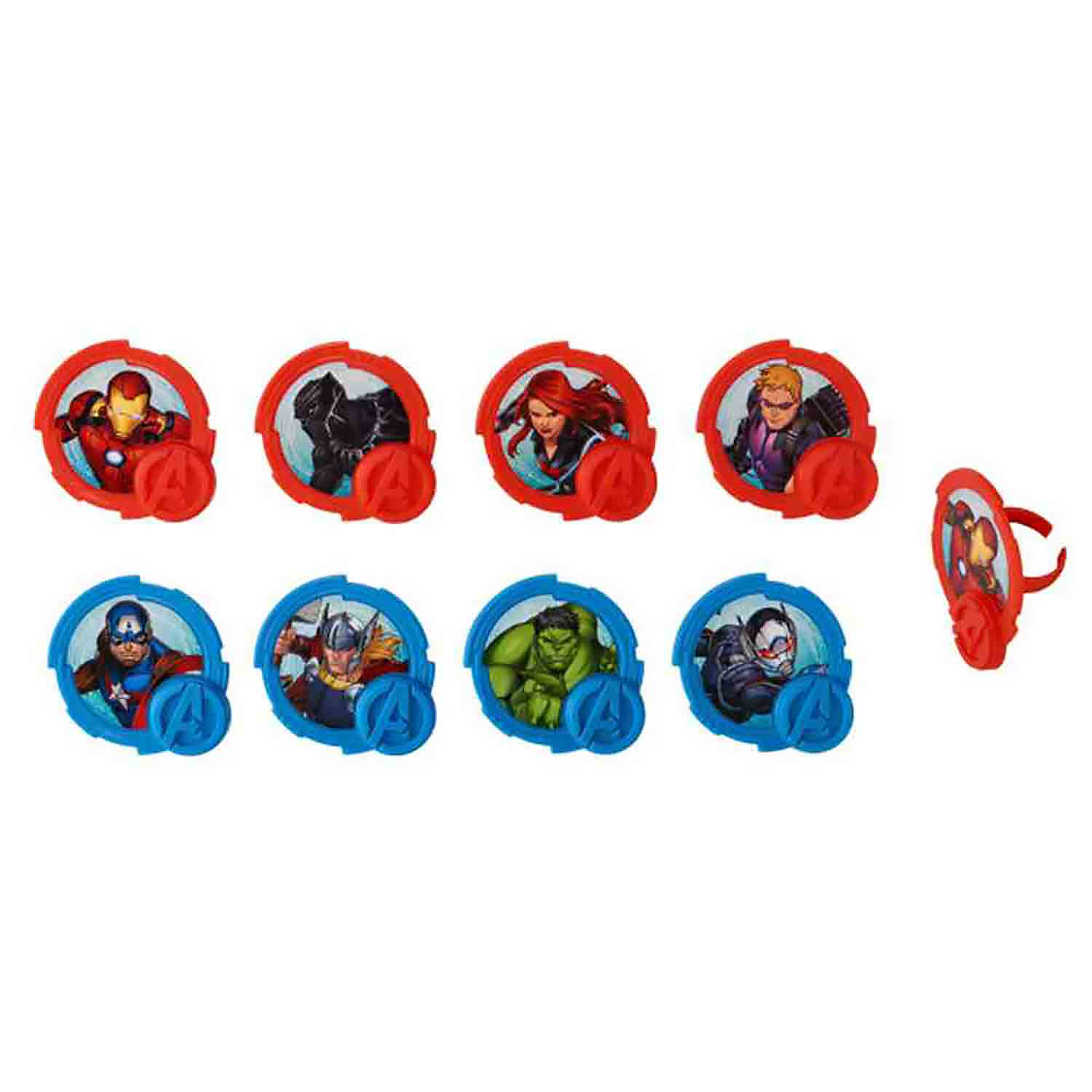 Mightiest Hero Avengers Rings