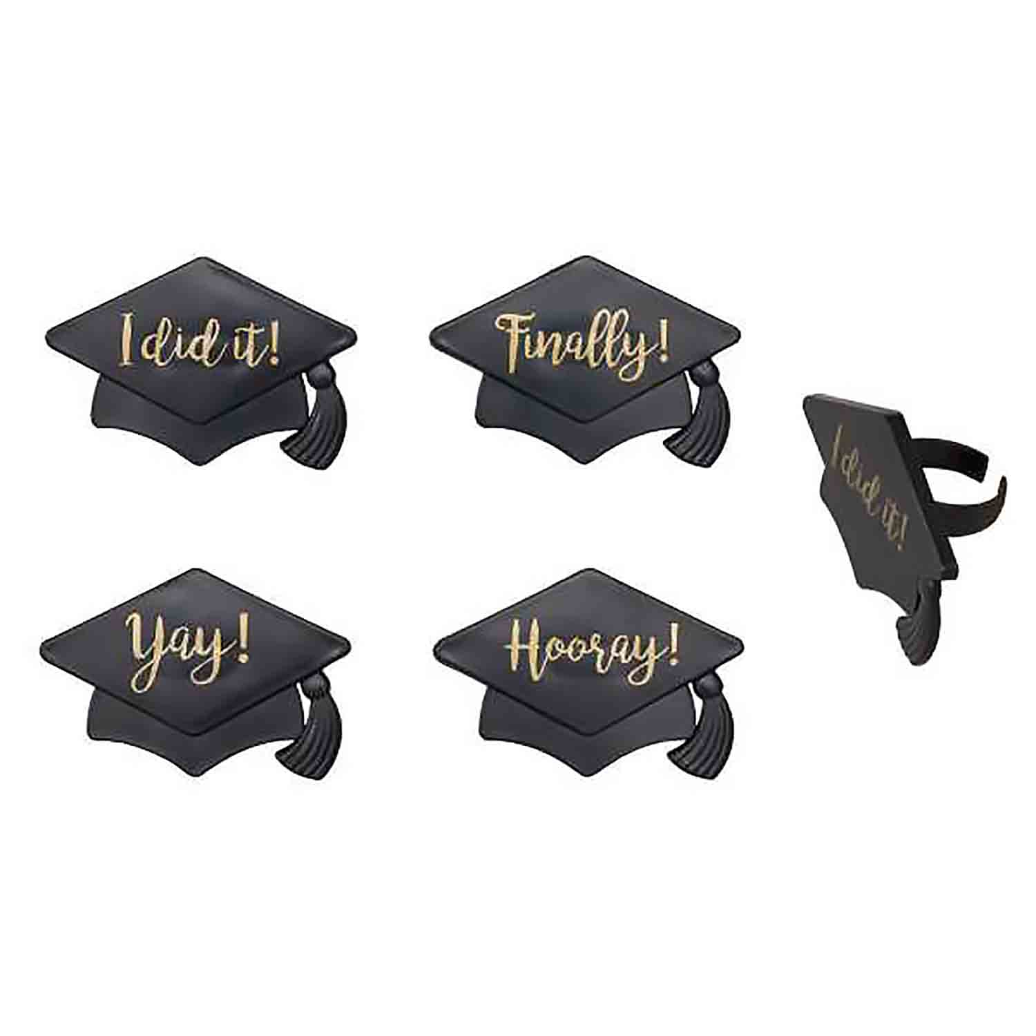 Grad Hat Sayings Rings