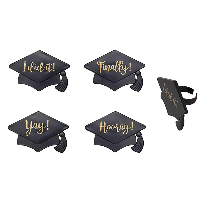 Grad Hat Sayings Rings