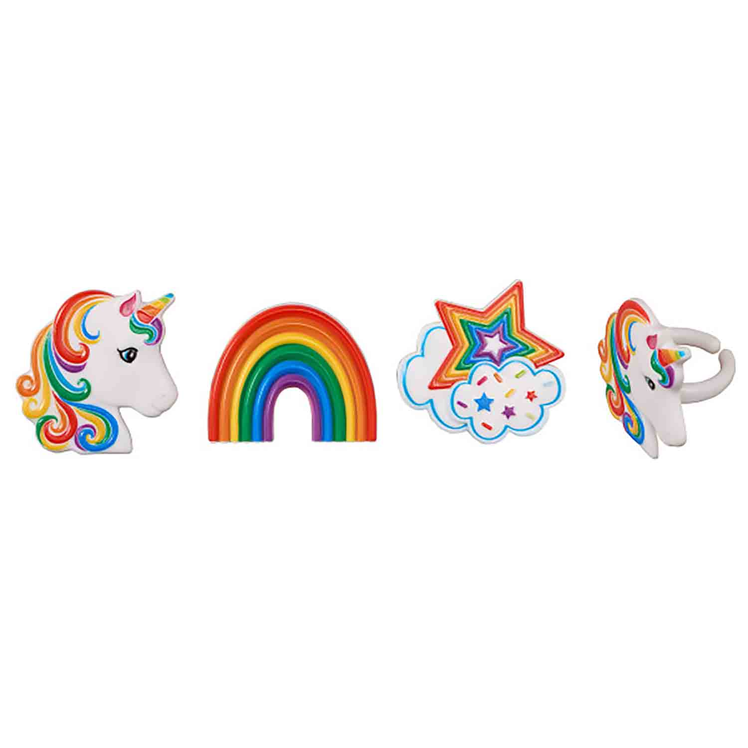 Rainbow Unicorn Rings