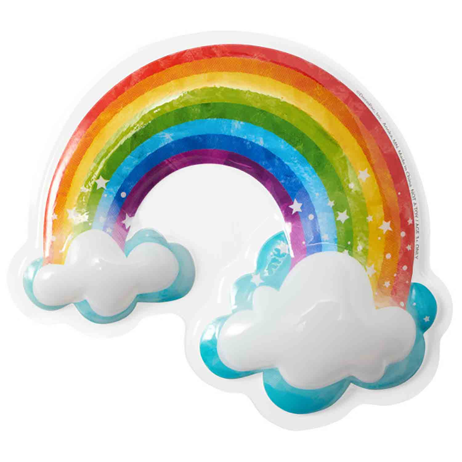 Rainbow with Clouds Cake Topper