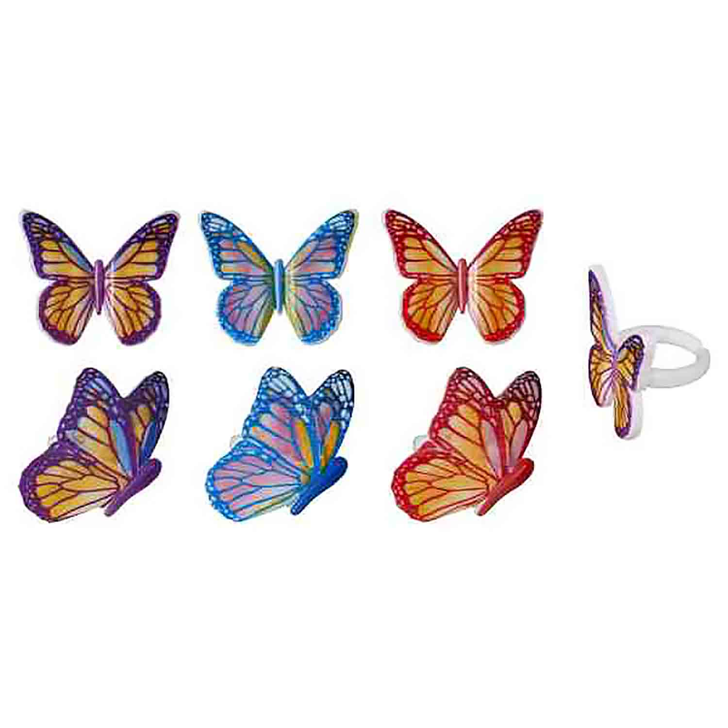 Watercolor Butterfly Rings