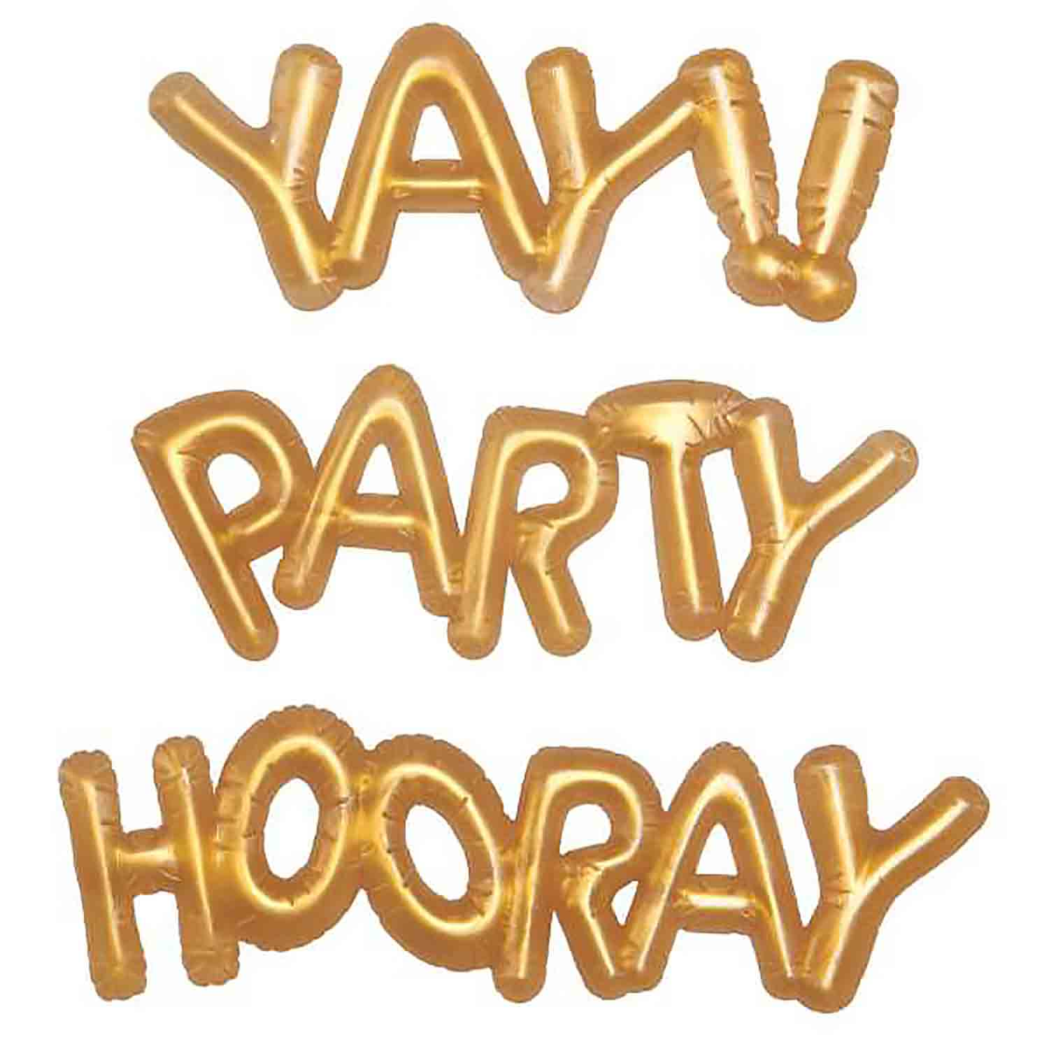 Gold Balloon Word Toppers