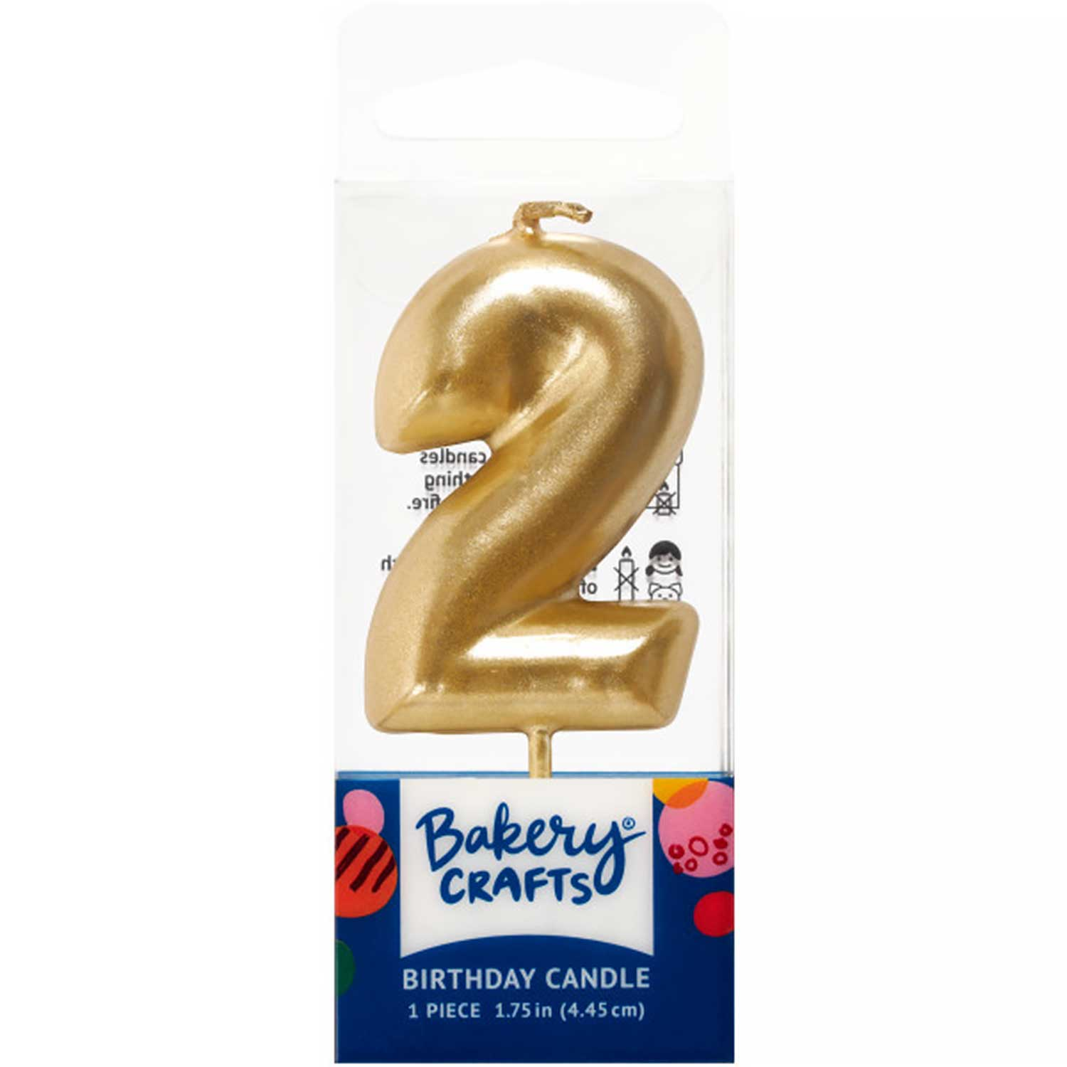 Gold Number 2 Mini Candle
