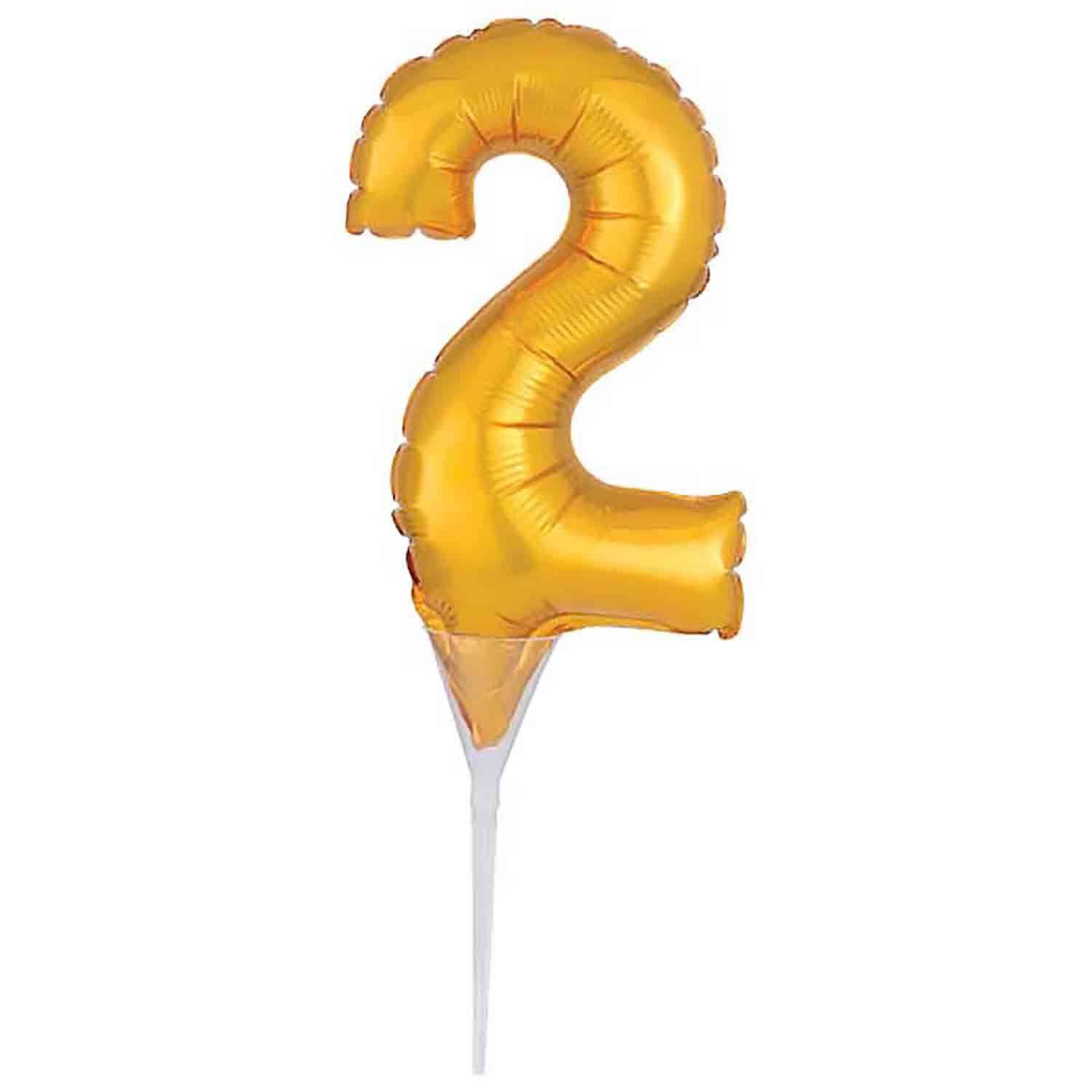 Number 2 Gold Balloon Pick