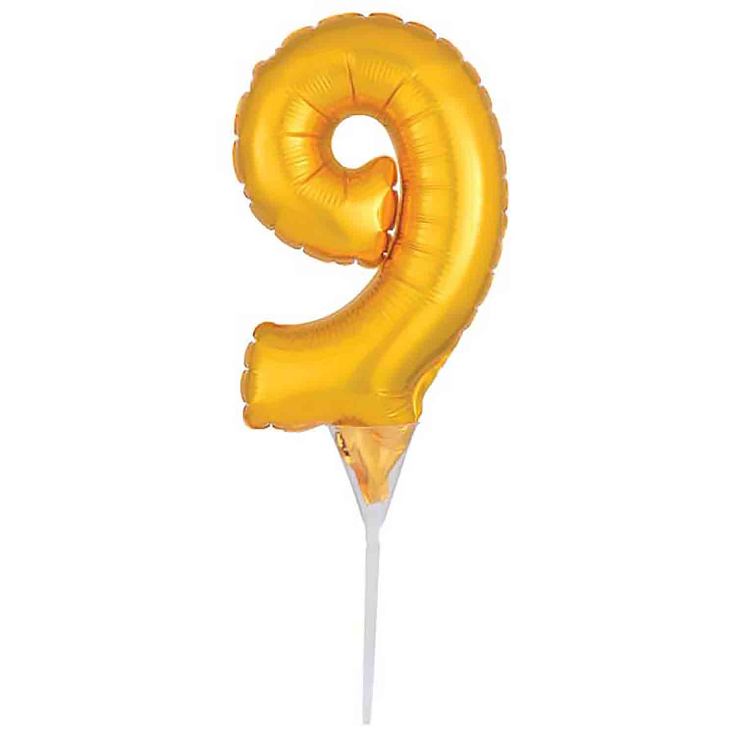 Number 9 Gold Balloon Pick