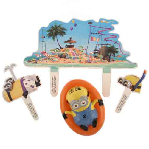 Minion Beach Party Cake Decorating Set