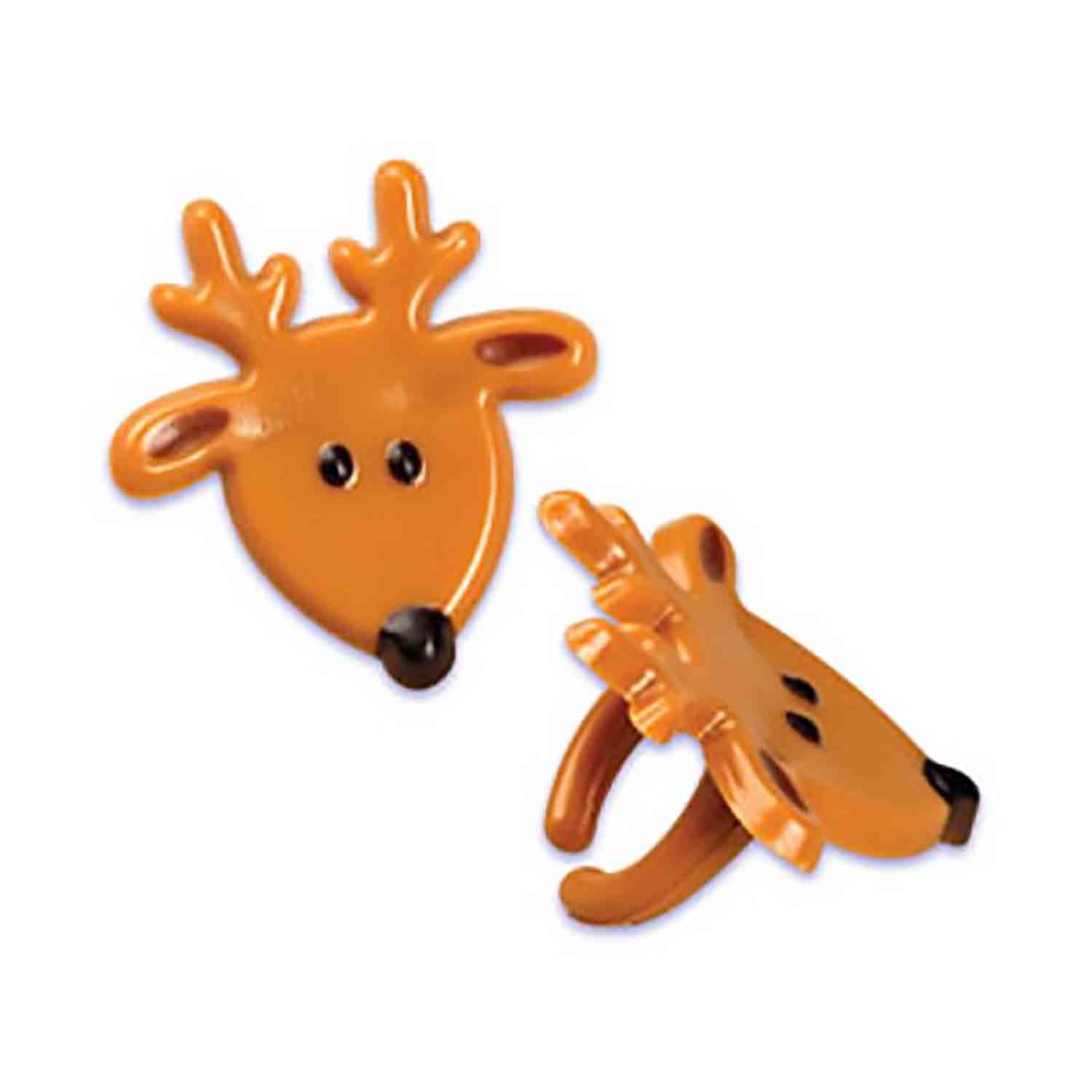Reindeer Face Rings