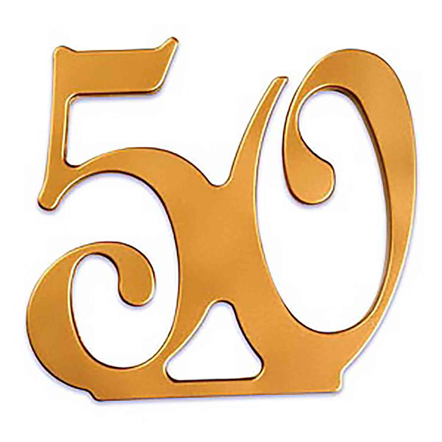 50th Anniversary Cake Topper