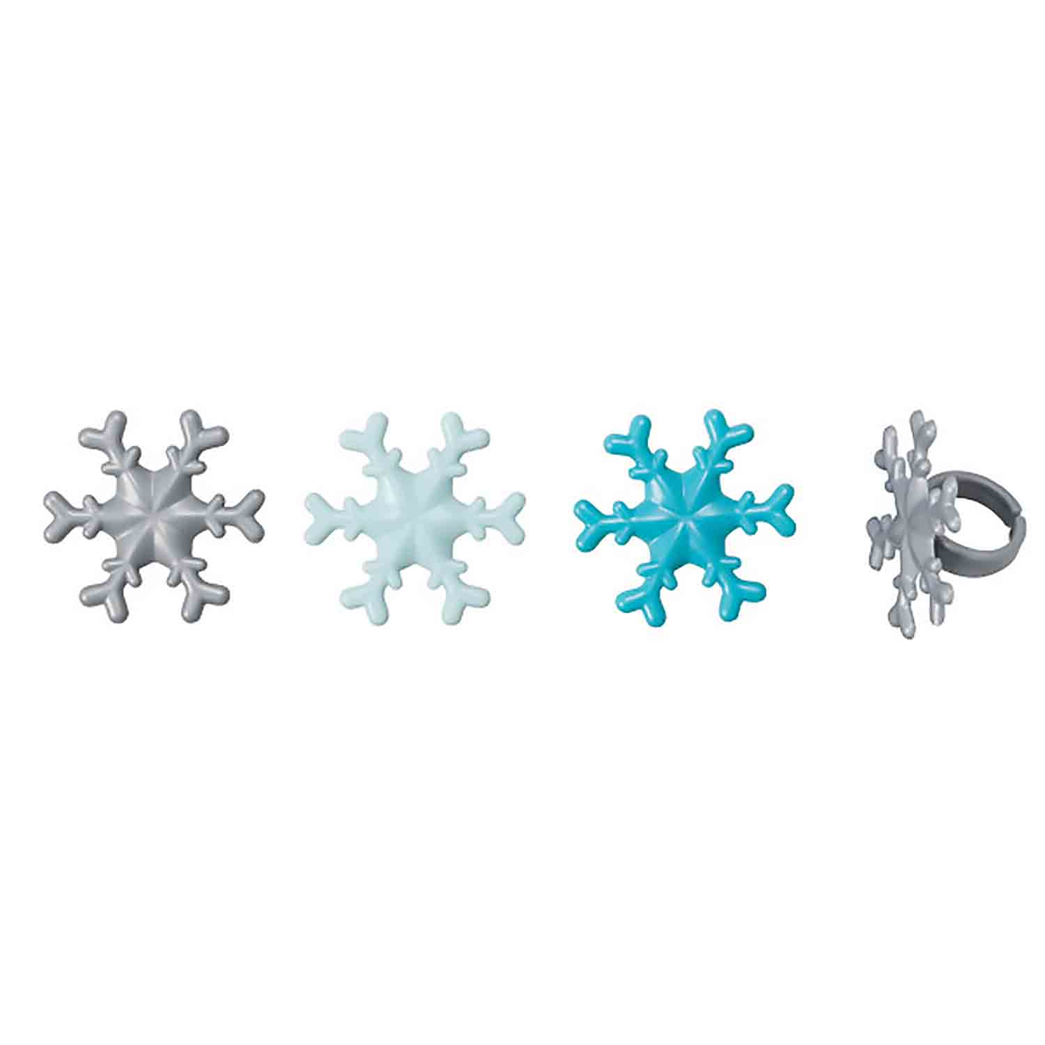 Frosted Snowflake Rings
